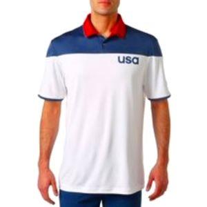 Adidas Mens' USA Golf Shirt Sz Red White Blue 2XL